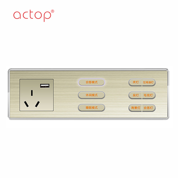 China Factory 2 Gang Smart Hotel Guest Room Touch Switch