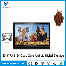 "Vplus W2361 23.6"" wall mounted touch screen all in one tv pc computer"