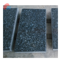 Blue Pearl Granite Flat Marker Headstone