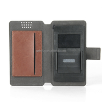New arrival pu leather universal phone flip case for 5--5.5 inch