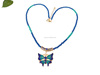 2016 fashion 24k golden plated butterfly blue latest design beads necklace