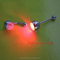 3Colors Battery Control Flashing Tongue Ring Flashing light