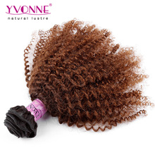 Brazilian afro kinky human hair two tone braiding hair