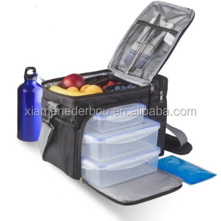 Premium 3 Meal Prep Bag Leak-Portion Control Container