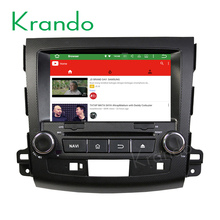 Krando Android 7.1 car dvd player for mitsubishi outlander 2006-2012 for peugeot 4007 navigation multimedia 2g ram KD-MT862