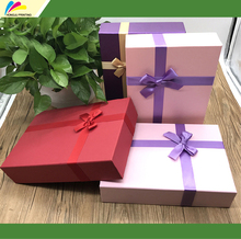hot selling custom beautiful christmas ribboned gift paper box printing