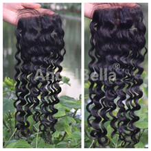 Angelbella Silk Base Lace Frontal Closure New Product Remy Loose Curl Weave Top Lace Silk Closure