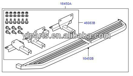 New side step, fit for Land - Rover LR3, LR4, VPLAP0035 NEW -Aftermarket Parts