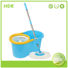 HDR-M011M bucket mop 360 degree Spin Magic Mop handle type,Hand Press With Wringer Mop Bucket