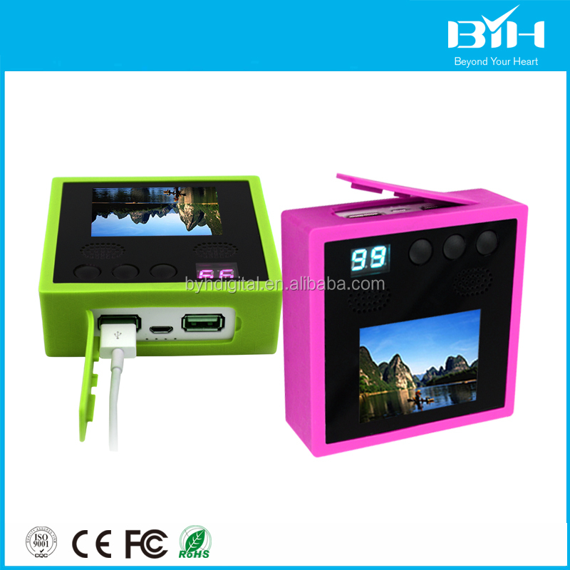 Restaurant menu ordering machine 2017 Trending product multifunctional cell phone charger and video player usb cable power bank
