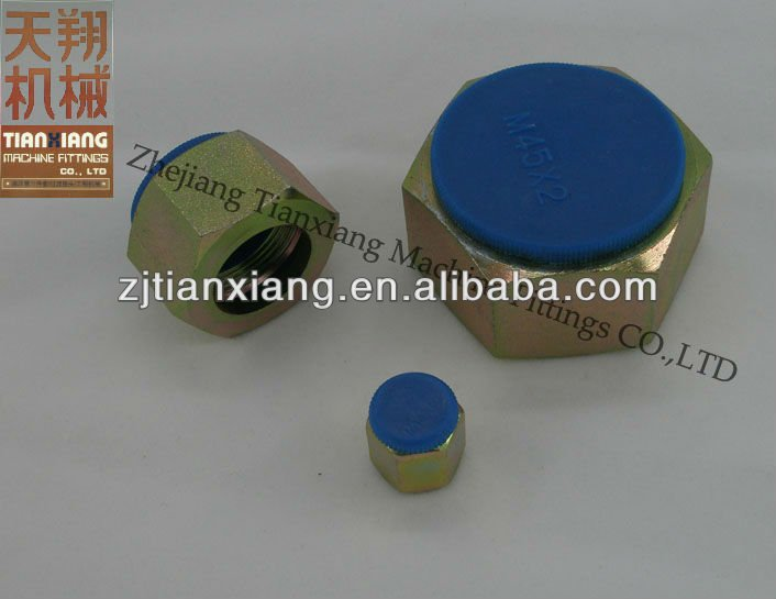 Carbon Steel Hydraulic Hose Fitting Hexagon Nuts