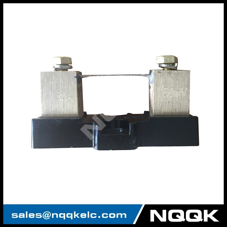 30A 75mV DC Current Measuring special Shunt Resistor with base for Ammeter