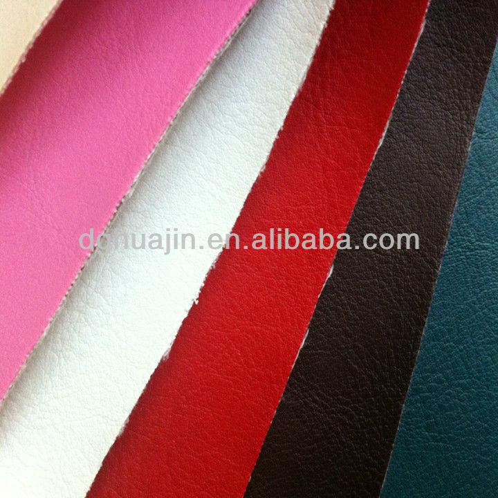 different pure flocking leather