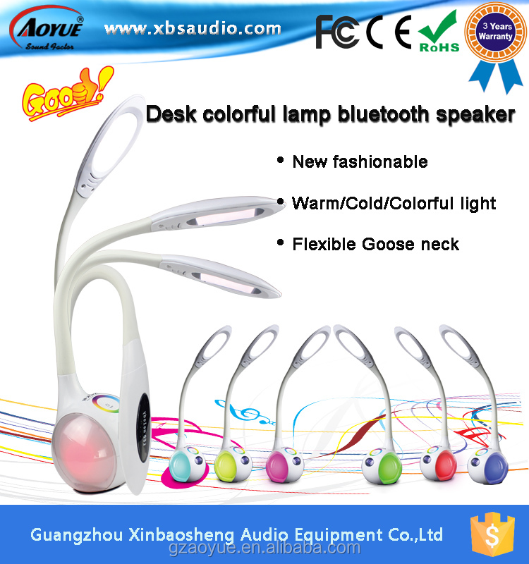 New Design rechargeable Bluetooth speaker lamp light led table