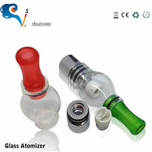 2014 Newest brand dry herb wax atomizer 510 e-cigarette Rainvapor factory price Vaporizer glass globe atomizer attachment
