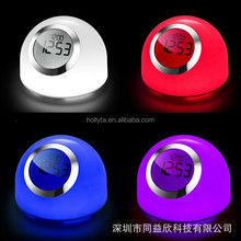 Color changing projection snooze alarm clock & night light