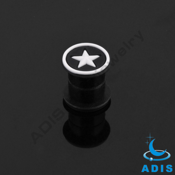 Fashion expander piercing jewelry acrylic magnetic ear tunnel plugs wholesale