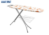 folding mesh ironing board with clothes rack