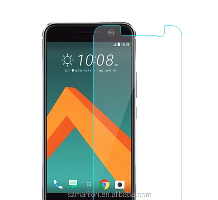 Liquid waterproof tempered glass screen premium <strong>mobile</strong> protective film for HTC <strong>M10</strong> with retail package