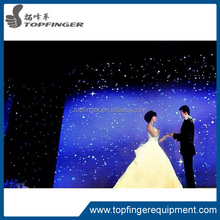 TFR fiber optic lighting led star cloth curtain/led stage backdrop cloth