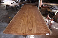Vintage Style Stability Walnut Solid Wood Slab With Iron Or SS Base Using Dining Table Top For Home Furniture