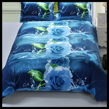 Custom reactive and disperse printed/printing soft 3d bed sheet sets