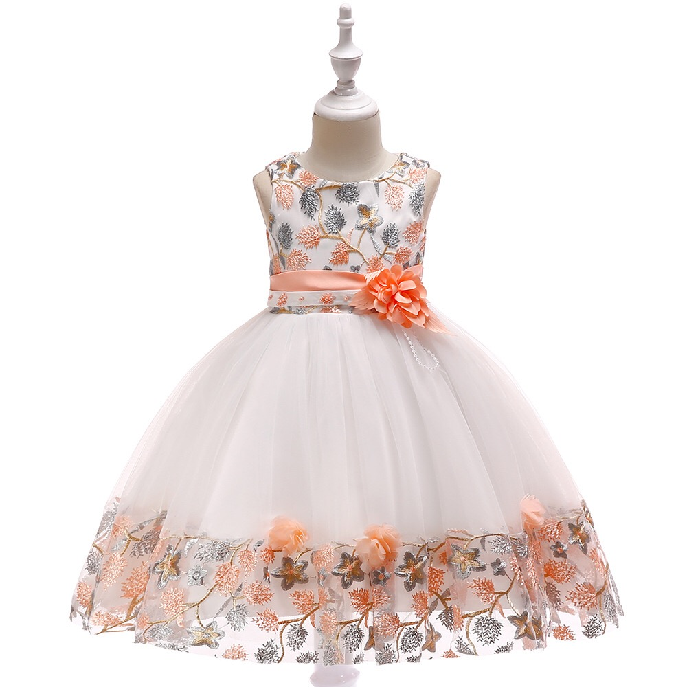 Girl Baby Summer Cloth Boutique Clothing Floral Picture Oem Birthday Cotton Print Frock Design Fancy Kid Party Dress