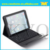 Perfect fit silicon/plastic keyboard with wireless bluetooth stand leather case for iPad Air with penholder
