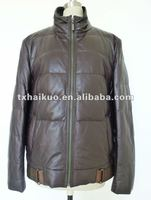 new fashionable winter wear padded man leather jacket