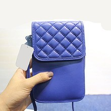 Trendy wholesale cell phone holder bags lovely girls leather mobile phone holder EMG3861