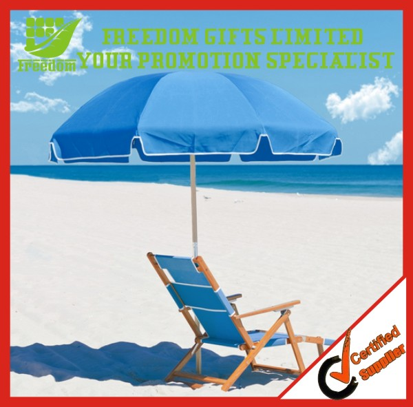 Promotion Windproof Custom Logo Beach Umbrella