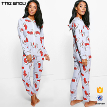 Guangdong garment factory long sleeves hooded custom made adult print onesie