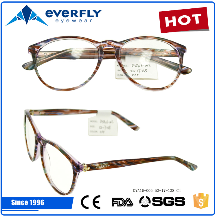2016 good quality newest design acetate optical glasses frame with spring temple spectacle frame new model