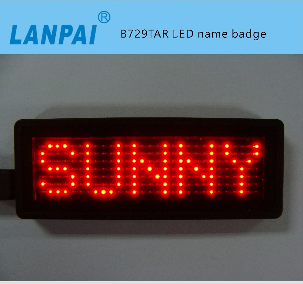 Dry Battery Led Pot Matrix Mini Led Name Badges
