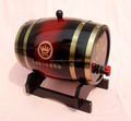 mini wooden oak wine barrels laserengraved logo