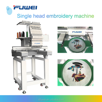 Fuwei high quality single head computerized embroidery machine for cap + t-shirt