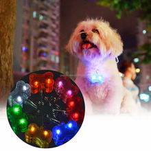 Pet Product Pet Supplies Dog Tag Pendant Safety LED Luminous Plastic Pendant
