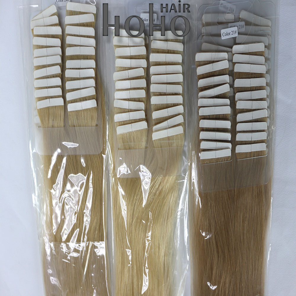 Stick tape hair extension top grade 5a 100% virgin brazilian hair