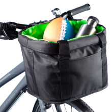 Wholesale durable polyester foldable bike basket bag