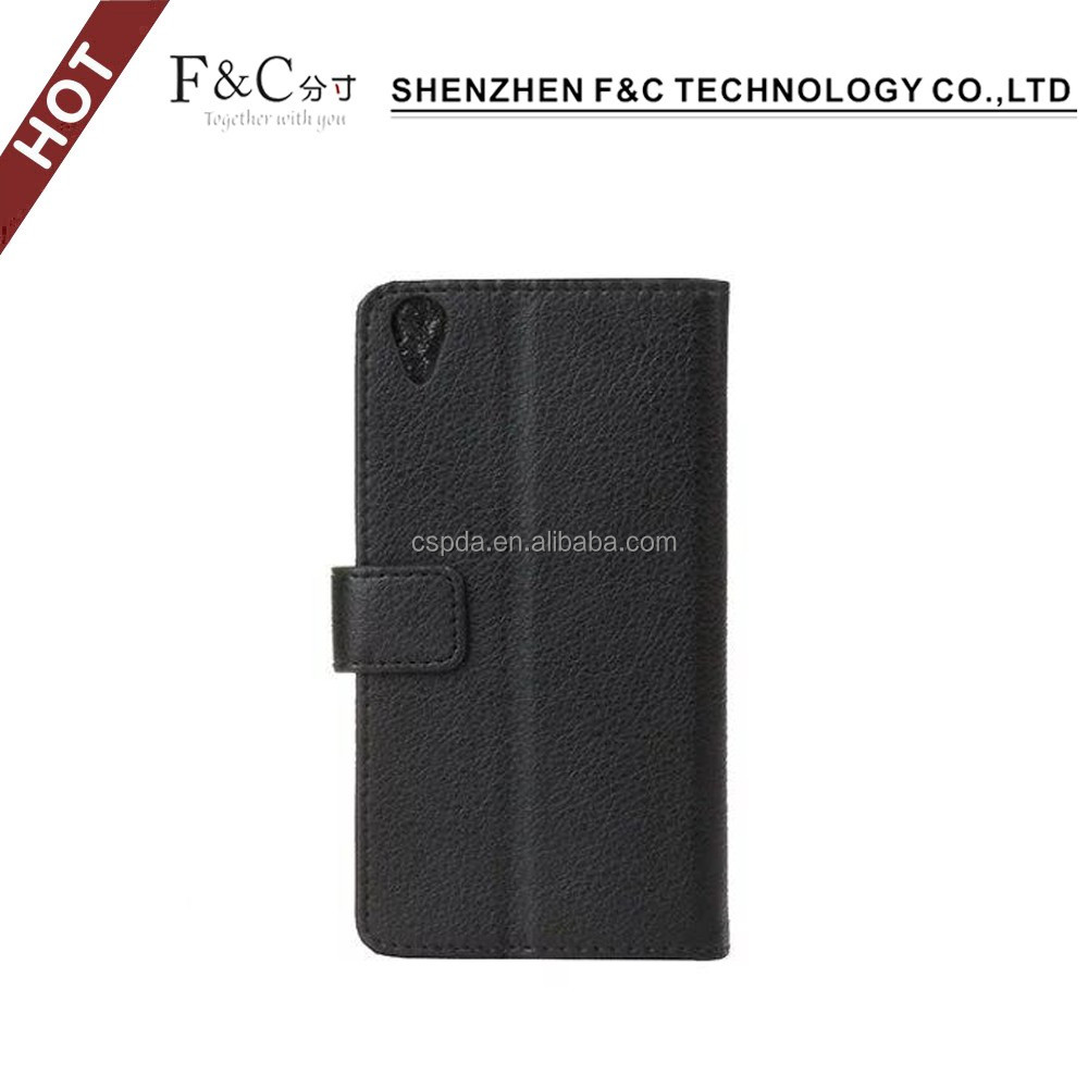 New arrival luxury Lichee Pattern decorate cases for sony xperia X case cover with card holders