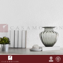 Wholesale CASAMOTION Home Decoration Items Small Grey Ribble Murano Glass Vases for Living Room Set