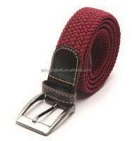 2014 44' comfortable elastic inlay web belts fabric stretch braided lady's party casual elastic cotton canvas leather belts