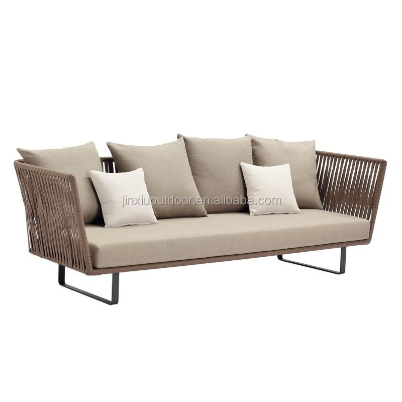 polyester kettal outdoor sofa garden rope furniture bs t018 buy rope garden furniture high. Black Bedroom Furniture Sets. Home Design Ideas