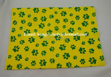 Printed nonwoven fabric pet towels, pet drying towels, pet bath towels