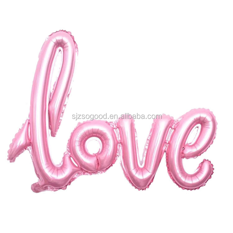 Hot Sale Inflatable LOVE Letter Helium Balloons,Wholesale Wedding Foil Balloon For Valentine's day