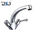 Good Quality Best Price for UK Market Brass Dual Handle Mono Deck Mounted Kitchen Sink Faucet