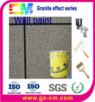 Water based decorative granite coating