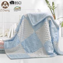 100% Polyester Microfiber Fleece Baby Blanket China Baby Air Conditioning Blanket Cute Baby Swaddle Blanket