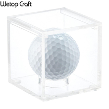 Wholesale clear acrylic golf ball soccer basketball sport display case
