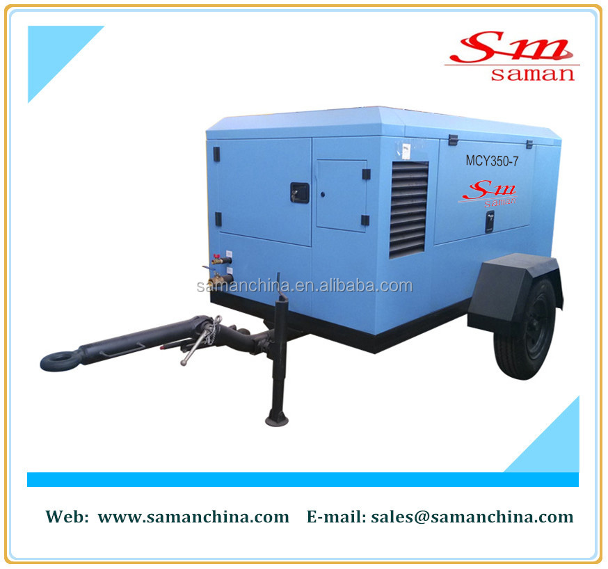 20 bar portable diesel driven high pressure screw air compressor 21 m3/min